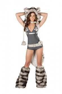 8364758d37f Wolf Romper Costume Set Wolf Costume Women