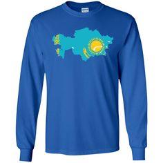 Kazakhstan flag LS Ultra Cotton Tshirt