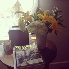 lilies, hydrangea, and gooseneck, loving this arrangement!