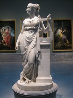 Terpsichore,the muse of lyric poetry, by Antonio Canova, 1816, Cleveland Museum of Art, Cleveland, Ohio, USA.