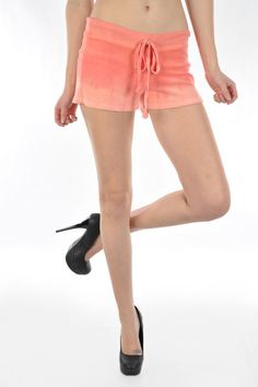 A super cute loop terry shorts with adjustable drawstring at waist.