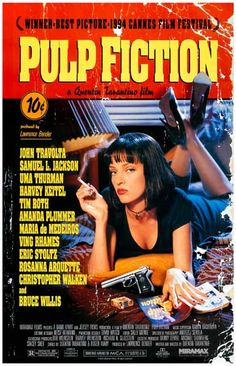 Pulp Fiction is a Quentin Tarantino classic! Let the lovely Uma Thurman liven up your wall today with this great poster! Ships fast. 11x17 inches. Check out the rest of our fantastic selection of Quen