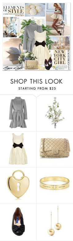 """""""Signs of light - Candice Swanepoel"""" by helleka ❤ liked on Polyvore featuring Vera Wang, Freya, River Island, Chanel, Tiffany & Co., Le Bunny Bleu, Elsa Peretti, quilted handbags, wool coats and ballet flats"""