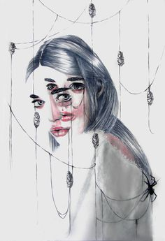 """asylum-art: """"Layered portraits by Gaia AlariGaia Alari (Marie Esther) website (Marie Esther)Gaia Alari, also known under pseudonym Marie Esther, is an artist from Milan, Italy. Gaia is a medical. Gaia, Controversial Photographers, Agnes Cecile, Street Art, Ghost In The Machine, Berlin Art, Art Addiction, Ap Art, Detail Art"""