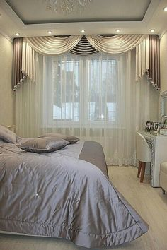 Curtain Idea for Master Bedroom Best Of Master Bedroom Curtain Designs Bedroom Curtains With Blinds, Living Room Decor Curtains, Luxury Curtains, Elegant Curtains, Living Room Windows, Bedroom Decor, Master Bedroom, Green Curtains, Decor Room