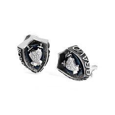 Barbados - Silver Crest Earrings #topazusa #robertobravo #inspiring #jewelry #silver #earrings