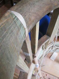 Poltroncina in legno: riparazione dello schienale
