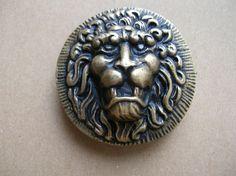 Vintage Lion Buckle  Lion Head Buckle  by BohemianGypsyCaravan