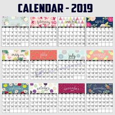 Prepare your annual schedule with our printable calendar Our templates are designed so flexible which you can customize them as Aged Whiskey, New Year Is Coming, 2019 Calendar, Wall Cladding, Dc Weddings, Budgeting, Projects To Try, Food And Drink, Printables