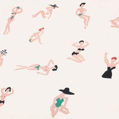 ladies at the beach / danielle kroll
