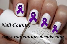 Purple Ribbon For Domestic Violence Awareness Nail Decals Nail Art Nail Stickers Best Price NC436