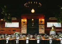The Zonzo Estate restaurant all set for a wedding reception - Simple and elegant
