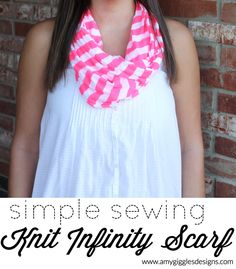 Simple Sewing: Knit Infinity Scarves Tutorial