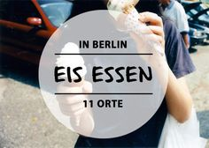 Eis essen in Berlin