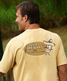 Senor Brewski - Beer-Dyed The Classic Crew Dye T Shirt, Funny Tshirts, Crazy Shirts, Tees, Sweatshirts, Classic, Fashion, Derby, Moda