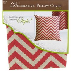 Give an old pillow new life with an affordable chevron cover, available in a variety of colors. | Shop Hobby Lobby