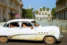 """""""A shared taxi, from pre-revolution days in the '50s""""."""