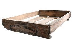 Vintage Wooden Berry Crate -- Rustic Industrial Storage Box $11 https://www.etsy.com/au/shop/AuroraMills