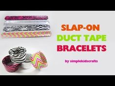In this episode we show you how to make slap on duct tape bracelets    For more information about this tutorial visit :      http://www.simplekidscrafts.com/  http://www.artsandcraftstv.com/    and English:    http://www.manualidadesconninos.com/  http://www.manualidadestv.com/    Simple Kids Crafts (www.simplekidscrafts.com) is a video blog dedicated to chi...