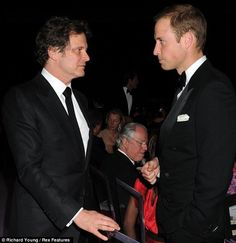 The Duke and Duchess of Cambridge have made a dazzling entrance at a charity gala dinner at Kensington Palace this evening. Hot Actors, Actors & Actresses, Happy Birthday Prince, King's Speech, Kate Middleton Prince William, Mr Darcy, Colin Firth, Gala Dinner, Princess Kate