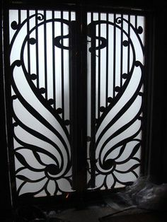 Per square foot. Exceptional Doors - Hand Crafted in 12 Gauge Wrought Iron by Monarch Custom Doors Beautiful wrought iron doors include operable double pane insulated glass pattern of your choice door color of your choice and many other custom options. Steel Gate Design, Iron Gate Design, Wrought Iron Decor, Wrought Iron Gates, Iron Front Door, Iron Doors, Tor Design, Design Design, Window Grill Design