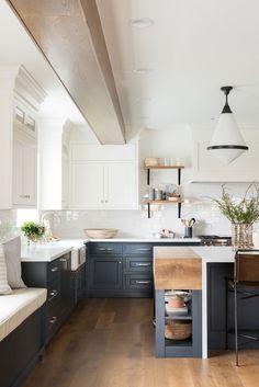 Modern kitchen - Northridge Remodel The Kitchen + Dining Nook – Modern kitchen Dining Nook, Kitchen Interior, Home Decor Kitchen, Kitchen Remodel, New Kitchen, Home Kitchens, Kitchen Style, Kitchen Renovation, Kitchen Design