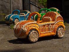 wooden vw beetle cabriolet volkswagen small little rattan toy model ...