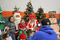 First time meeting Santa?  OMG!  Please smile for the camera!