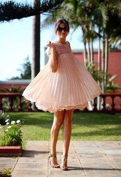 Nude pink dress. I actually own this and still haven't worn it lol!