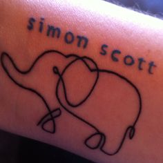Tattoo in memory of our son  (Design based on Joe Bauldoff bear artwork.)
