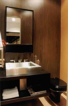 Deixe seu lavabo moderno gastando pouco.