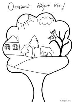 65 En Iyi Orman Görüntüsü Coloring Pages Coloring Books Ve Day Care