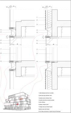 Wonk Architectes, Projex Ingénierie, Diagobat, Daniel Caucheteux. IF SANTE. Details facades