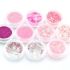 10 pots Nail Art Glitter Dust Spangle Powder Acrylic Tips Decoration C130-1