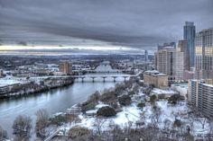 Austin Texas - rare snow day