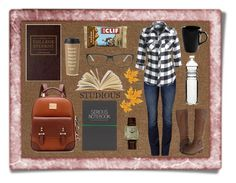 """""""College (is scary)"""" by janeaustin13 ❤ liked on Polyvore featuring art"""