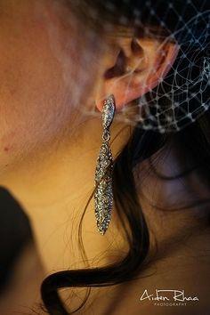 Silver drop earring || Bride's Accessories