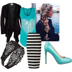 """Blue Tank"" by enhoover on Polyvore"