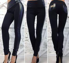 8f37e1a967d Лосины женские черные 14654  Интернет-магазин модной женской одежды оптом и  в розницу . Самые низкие цены в Украине. брюки женские от