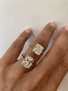 Square Halo Engagement Rings, Engagement Ring On Hand, Cushion Cut Engagement Ring, Engagement Ring Styles, Loose Diamonds For Sale, Modest Proposal, Square Diamond Rings, Cushion Cut Diamonds, Ring Designs