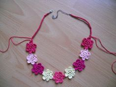 My Hobby Is Crochet: Flower Necklace Hawaiian Dream - Free pattern with tutorial