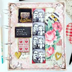 """""""Sweethearts"""" Art Journal page (Inspired by Boardwalk Empire)"""