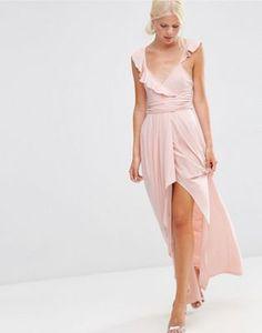ASOS Ruffle Strappy Soft Maxi Dress Maxi Dress Wedding e753633d8