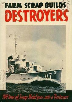 American poster, Farm Scrap Builds Destroyers
