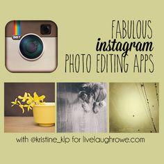 Instagram Photo Editing Apps with livelaughrowe.com