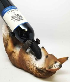Fox-and-Grapes-Wine-Holder-Cute-Guzzler-Bar-Kitchen-Decor-12-L-CHRISTMAS-SALE