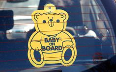 Cause de la rage au volant?!!! Baby on board stickers have led to one in 20 motorists having an accident, a   survey has claimed.