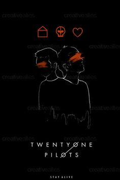 TWENTY ONE PILOTS Poster By Aquaskiies