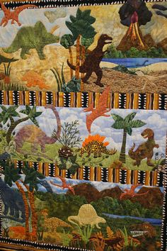 boys quilt...the dinosaurs and trees etc. were all needleturned.