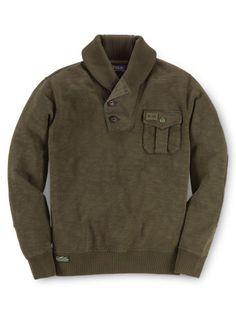 Shawl-Collar Fleece Sweatshirt - Boys 8-20 Tees & Sweatshirts - RalphLauren.com